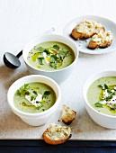 Broccoli soup with Stilton