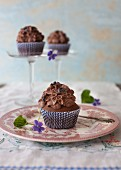 Chocolate Orange Cannoli Cupcakes & Cacao Nibs
