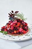 Beet Salad with Fish