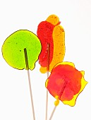 Colourful home-made lollipops