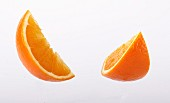 Two orange wedges