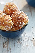 Chouquettes (profiteroles with sugar crystals, France)