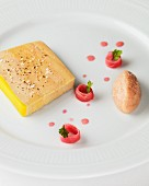 Foie gras terrine with rhubarb and ginger chutney