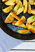 Rosemary potatoes in a pan