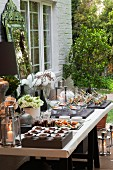 A summer garden party buffet