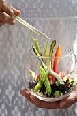 Vegetarian sushi salad