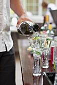 White wine spritzers