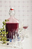 Home-made sloe gin