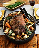 Pot Roast with Parsnips, Potatoes and Carrots