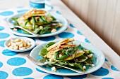 Grüne Bohnen Salat mit Haloumi