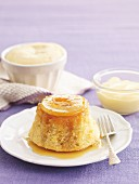 Mini golden syrup and apple puddings