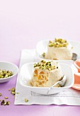 Peach and cardamon kulfi