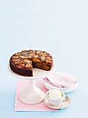 Banana rum and raisin upside down cake