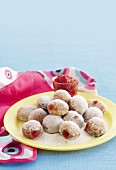 Mini jam and vanilla sugar donut holes