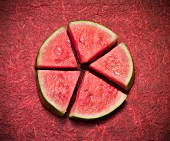 Watermelon Wedges Forming a Circle