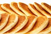Two Rows of Plain Pancakes