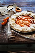 Rustic apricot pie with goat's cheese ricotta