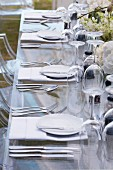 A table laid for a celebration (section)