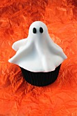 A ghost cupcake