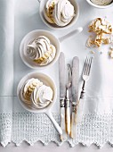 Coffee meringue and ice-cream