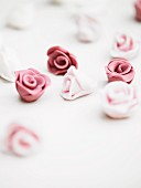Sugar roses for decorating cakes