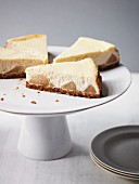 A few slices of cheesecake with pear and ginger