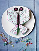 A butterfly cake for a children's party