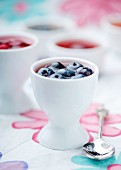 Mini fruit jellies in eggcups