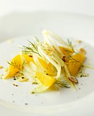 Fennel salad with orange segments and hazelnuts