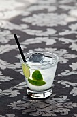 Caipiroska with vodka and limes