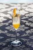 Bellini with champagne