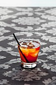 Old Fashioned cocktail with whiskey