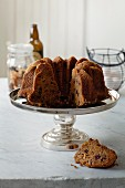 Bundt cake with dried fruits
