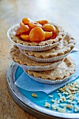 Apricot and almond tartlet