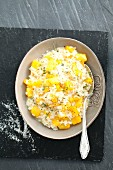 Squash risotto with thyme