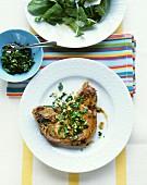 Pork chop with gremolata