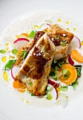 Chicken breast with carrot radish sauce