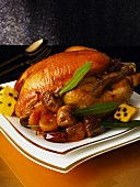 Roast turkey with dried fruits