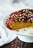 Orange & coconut cake with syrup
