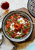 Shakshouka (egg and tomato dish, North Africa)