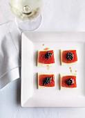 Tuna sashimi with kohlrabi and Avruga caviar