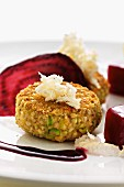 Buckwheat burger with beetroot