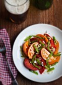 Tomato Salad with Chopped Snow Peas