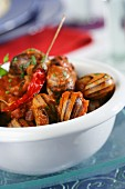 Snails with Romesco sauce