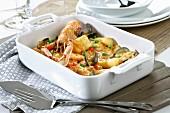 Spanish seafood zarzuela