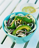 Avocado salad with giant capers