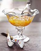 Marmalade in a glass dish