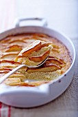 Clafouti with apples and rice