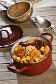 A stew of tripe, chickpeas and chorizo (Spain)