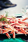 Norway lobster on plate